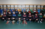 9 March 2016; Pictured at the Masita Post Primary School Championships Launch are, back row, from left, Seán Power, Summerhill College, Tommy Kinsella, Dunshaughlin CC, Anthony Ryan, Our Lady's SS Templemore, Steven McDonnell, Masita Ambassador, Des Smith, Masita, Tommy Walsh, St Kieran's College, Kevin Banks, Summerhill Collge, David Dohehy, Coláiste Mhuire, Daniel O'Brien, St Brendan's Killarney. Front row, from left, Jack Fitzpatrick, Presentation College Athenry, Michael Cody, St Kieran's College, Adam McDermott, Dunshaughlin CC, Callum Pearson, St Benildus College, John Daly, Holy Rosary Mount Bellow, Evan Niland, Presentation College Athenry, James Foley, Holy Rosary Mount Bellow, and Tommy Lowry, Abbey CBS. Croke Park, Dublin. Picture credit: Piaras Ó Mídheach / SPORTSFILE