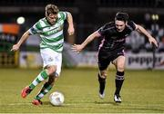 11 March 2016; Simon Madden, Shamrock Rovers, in action against Eric Molloy, Wexford Youths. SSE Airtricity League Premier Division, Shamrock Rovers v Wexford Youths. Tallaght Stadium, Tallaght, Co. Dublin.  Picture credit: David Maher / SPORTSFILE