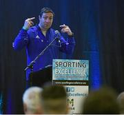 12 March 2016; Kenny Egan, a Silver Medallist at the 2008 Beijing Olympics, the during 'The Olympic Journey' presentation at the Sporting Excellence Conference in the Breaffy House Resort, Castlebar, Mayo. Picture credit: Ray McManus / SPORTSFILE