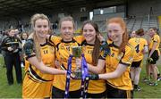 12 March 2016; Scoil Phobail Sliabh Luachra, Rathmore, Kerry, goal scorers, from left, Brid Ryan, Aoife O'Callagahan, Ava Looney and Katie Horgan. Lidl All Ireland Junior C Post Primary Schools Championship Final 2016, Mercy S.S. Ballymahon, Longford v Scoil Phobail Sliabh Luachra, Rathmore, Kerry. MacDonagh Park, Nenagh, Tipperary. Picture credit: Matt Browne / SPORTSFILE