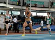 12 March 2016; Molly Scott, St L. O'Toole A.C., in action during the Girls U18 60m heats. GloHealth Juvenile Indoor Championships. AIT, Athlone, Co. Westmeath. Picture credit: Sam Barnes / SPORTSFILE