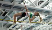 12 March 2016; Emma Coffey, Carraig-Na-Bhfear A.C., on her way to winning the Girls U16 Pole Vault . GloHealth Juvenile Indoor Championships. AIT, Athlone, Co. Westmeath. Picture credit: Sam Barnes / SPORTSFILE