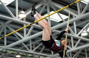12 March 2016; Ella Duane, Crosstown A.C., in action during the Girls U16 Pole Vault . GloHealth Juvenile Indoor Championships. AIT, Athlone, Co. Westmeath. Picture credit: Sam Barnes / SPORTSFILE