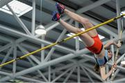 12 March 2016;  Harriet Dougan, Lagan Valley A.C., in action during the Girls U16 Pole Vault . GloHealth Juvenile Indoor Championships. AIT, Athlone, Co. Westmeath. Picture credit: Sam Barnes / SPORTSFILE