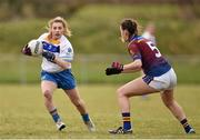 12 March 2016; Danielle O'Connor, Dublin Institute of Technology, in action against Amy Gaffney,  University of Limerick. Lynch Cup Final 2016, University of Limerick v Dublin Institute of Technology. John Mitchels GAA Club, Tralee, Co. Kerry. Picture credit: Brendan Moran / SPORTSFILE
