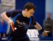 6 March 2010; John Murphy, UCD, in action against Peter Graham. Butterfly National Senior Table Tennis Championships, DCU, Glasnevin, Co. Dublin. Picture credit: Ray McManus / SPORTSFILE
