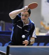 6 March 2010; John Murphy, UCD, who defeated Daryl Strong in straight sets to reach the final. Butterfly National Senior Table Tennis Championships, DCU, Glasnevin, Co. Dublin. Picture credit: Ray McManus / SPORTSFILE