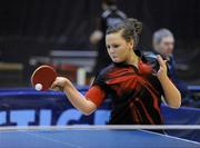 6 March 2010; Rebecca Kenny, ALSAA, who defeated Clodagh McCullagh, 3-0, in the semi-final. Butterfly National Senior Table Tennis Championships, DCU, Glasnevin, Co. Dublin. Picture credit: Ray McManus / SPORTSFILE