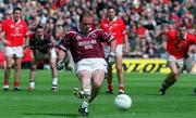 29 April 2001; Ger Heavin, Westmeath scores from a penalty. Westmeath v Cork, Allianz National Football League, Division 2 Final. Croke Park, Dublin. Picture credit; Pat Murphy / SPORTSFILE