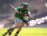 5 May 2001; Aidan Kearney, St Colman's, is tackled by Cathal Forde, Gort CS. Gort Community School v St Colman's (Fermoy), All-Ireland Colleges Senior 'A' Final, Croke Park, Dublin. Hurling   Picture credit; Ray McManus / SPORTSFILE