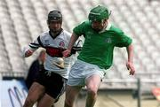 5 May 2001; Andrew O'Shaughnessy, St Colman's, in action against Matthew Fitzsimons, Gort CS. Gort Community School v St Colman's (Fermoy), All-Ireland Colleges Senior 'A' Final, Croke Park, Dublin. Hurling   Picture credit; Pat Murphy / SPORTSFILE
