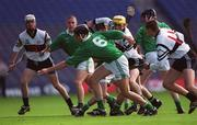 5 May 2001; Tadhg Healy, St Colman's holds possession. Gort Community School v St Colman's, Fermoy, All-Ireland Colleges Senior 'A' Final, Croke Park, Dublin. Hurling. Picture credit; Ray McManus / SPORTSFILE