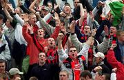 6 May 2001; Bohemians fans celebrate as their side become Premier Division champions. Kilkenny City v Bohemians, eircom League, Premier Division, Buckley Park, Kilkenny. Soccer. Picture credit; Matt Browne / SPORTSFILE