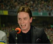 16 March 2016; Snooker player Ken Doherty during the 2FM Game On International Special at the Aviva Fan Studio in Aviva Stadium. 70 lucky fans had the opportunity to attend the broadcast of the Aviva sponsored Game On on RTÉ 2FM previewing Saturday's match between Ireland and Scotland in Aviva Stadium. Aviva Stadium, Lansdowne Road, Dublin. Picture credit: Piaras Ó Mídheach / SPORTSFILE