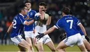 16 March 2016; Sen Fox, Tyrone, in action against Pierse Smith, Niall Clerkin and Barry Fortune, Cavan. EirGrid Ulster GAA Football U21 Championship, Quarter-Final, Cavan v Tyrone, Kingspan Breffni Park, Cavan. Picture credit: Oliver McVeigh / SPORTSFILE