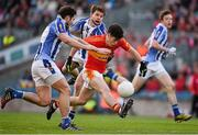 17 March 2016; Cian Costello, Castlebar Mitchels, in action against Bob Dwan, left, and Darragh Nelson, Ballyboden St Endas. AIB GAA Football All-Ireland Senior Club Championship Final, Ballyboden St Endas, Dublin, v Castlebar Mitchels, Mayo. Croke Park, Dublin. Picture credit: Ray McManus / SPORTSFILE