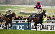 18 March 2016; Bryan Cooper celebrates as he crosses the line to win the Timico Cheltenham Gold Cup on Don Cossack. Prestbury Park, Cheltenham, Gloucestershire, England. Picture credit: Seb Daly / SPORTSFILE
