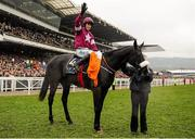 18 March 2016; Bryan Cooper celebrates after winning the Timico Cheltenham Gold Cup on Don Cossack. Prestbury Park, Cheltenham, Gloucestershire, England. Picture credit: Seb Daly / SPORTSFILE