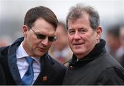 18 March 2016; Trainer Aidan O'Brien and Owner J.P. McManus after Ivanovich Gorbatov, with Barry Geraghty up, won the JCB Triumph Hurdle. Prestbury Park, Cheltenham, Gloucestershire, England. Picture credit: Cody Glenn / SPORTSFILE