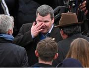 18 March 2016; An emotional Trainer Gordon Elliott after he sent out Don Cossack and Bryan Cooper to win the Timico Cheltenham Gold Cup Steeple Chase. Prestbury Park, Cheltenham, Gloucestershire, England. Picture credit: Cody Glenn / SPORTSFILE
