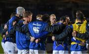 18 March 2016; Jeremy Loughman and team-mates during a huddle ahead of the game. Guinness PRO12 Round 9 Refixture, Glasgow Warriors v Leinster. Scotstoun Stadium, Glasgow, Scotland. Picture credit: Stephen McCarthy / SPORTSFILE