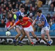 17 March 2016; Neil Lydon, Castlebar Mitchels, in action against Shane Clayton, left, and Bob Dwan, Ballyboden St Endas. AIB GAA Football All-Ireland Senior Club Championship Final, Ballyboden St Endas, Dublin, v Castlebar Mitchels, Mayo. Croke Park, Dublin. Picture credit: Ray McManus / SPORTSFILE