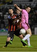 18 March 2016; Eric Molloy, Wexford Youths, in action against Kurtis Byrne, Bohemians. SSE Airtricity League Premier Division, Bohemians v Wexford Youths. Dalymount Park, Dublin.  Picture credit: Piaras Ó Mídheach / SPORTSFILE