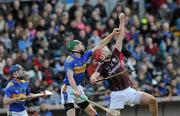 14 March 2010; Iarla Tannian, Galway, in action against Shane Maher and Paddy Stapleton, left, Tipperary. Allianz GAA Hurling National League, Division 1, Round 3, Tipperary v Galway, Semple Stadium, Thurles, Co. Tipperary. Picture credit: Brian Lawless / SPORTSFILE