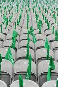 13 March 2010; Flags and empty seats awaits the arrival of patrons for the game. RBS Six Nations Rugby Championship, Ireland v Wales, Croke Park, Dublin. Picture credit: Ray McManus / SPORTSFILE