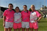 19 March 2016; Kerry Ladies Football All Stars, from left, Aislinn Desmond, Sarah Houlihan, Caroline Kelly and Bernie Breen after the game. TG4 Ladies Football All-Star Tour, 2014 All Stars v 2015 All Stars. University of San Diego, Torero Stadium, San Diego, California, USA. Picture credit: Brendan Moran / SPORTSFILE