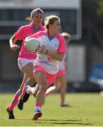 19 March 2016; Sinead Burke, Galway and 2014 All Stars, in action against Niamh McEvoy, Dublin and 2015 All Stars. TG4 Ladies Football All-Star Tour, 2014 All Stars v 2015 All Stars. University of San Diego, Torero Stadium, San Diego, California, USA. Picture credit: Brendan Moran / SPORTSFILE