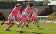 19 March 2016; Ciara O'Sullivan, Cork and 2014 All Stars, in action against Ciara Hegarty, Donegal and 2015 All Stars. TG4 Ladies Football All-Star Tour, 2014 All Stars v 2015 All Stars. University of San Diego, Torero Stadium, San Diego, California, USA. Picture credit: Brendan Moran / SPORTSFILE