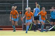 20 March 2016; Chloe Brown, Ards, celebrates after scoring her side's first goal. Irish Senior Women's Cup Final, Ards v Ulster Elks, National Hockey Stadium, UCD, Belfield, Dublin. Picture credit: Paul Mohan / SPORTSFILE