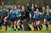 20 March 2016; Ulster Elks players celebrate at the end of the game. Irish Senior Women's Cup Final, Ards v Ulster Elks, National Hockey Stadium, UCD, Belfield, Dublin. Picture credit: Paul Mohan / SPORTSFILE