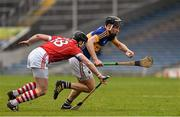 20 March 2016; John McGrath, Tipperary, in action against Shane O'Neill, Cork. Allianz Hurling League, Division 1A, Round 5, Tipperary v Cork, Semple Stadium, Thurles, Co. Tipperary. Picture credit: Ray McManus / SPORTSFILE