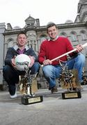 19 March 2010; Two new names were added to the GAA  Player of the Month Awards list as towering Dublin midfielder Eamonn Fennell and Galway hurling's high scoring Iarla Tannian today became the first 2010 recipients of the the awards, sponsored by Vodafone. The ceremony also saw the two leading ladies from last year's camogie and ladies football seasons, Kilkenny's Anne Dalton and Cork's Angela Walsh, respectively, honoured with their 2009 Player of the Year awards. At the awards are Galway hurler Iarla Tannian, right, and Dublin's Eamonn Fennell. Westbury Hotel, Dublin. Picture credit: Brian Lawless / SPORTSFILE