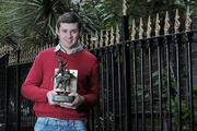 19 March 2010; Two new names were added to the GAA  Player of the Month Awards list as towering Dublin midfielder Eamonn Fennell and Galway hurling's high scoring Iarla Tannian today became the first 2010 recipients of the the awards, sponsored by Vodafone. The ceremony also saw the two leading ladies from last year's camogie and ladies football seasons, Kilkenny's Anne Dalton and Cork's Angela Walsh, respectively, honoured with their 2009 Player of the Year awards. At the awards is Galway hurler Iarla Tannian. Westbury Hotel, Dublin. Picture credit: Brian Lawless / SPORTSFILE