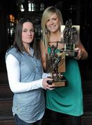19 March 2010; Two new names were added to the GAA  Player of the Month Awards list as towering Dublin midfielder Eamonn Fennell and Galway hurling's high scoring Iarla Tannian today became the first 2010 recipients of the the awards, sponsored by Vodafone. The ceremony also saw the two leading ladies from last year's camogie and ladies football seasons, Kilkenny's Anne Dalton and Cork's Angela Walsh, respectively, honoured with their 2009 Player of the Year awards. At the awards are Kilkenny camogie star Anne Dalton, left, and Cork's ladies footballer Angela Walsh. Westbury Hotel, Dublin. Picture credit: Brian Lawless / SPORTSFILE