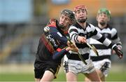 28 March 2016; Peter Casey, Ard Scoil Ris, Limerick, in action against Adrian Mullen, St. Kiernan's College, Kilkenny. Masita GAA All Ireland Post Primary Schools Croke Cup Final, Ard Scoil Ris, Limerick v St Kieran's College, Kilkenny. Semple Stadium, Thurles, Co. Tipperary. Picture credit: Paul Mohan / SPORTSFILE