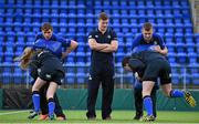 30 March 2016; Leinster Rugby stars, from left, Garry Ringrose, Josh van der Flier and Ross Molony are joined by Caoimhe Power, age 16, Navan RFC, and Sean Dunne, age 16, Lansdowne FC, at Donnybrook Stadium to mark the launch of the Bank of Ireland Leinster Rugby School of Excellence which will run in The King's Hospital School, Palmerstown in July and August. Go to http://www.leinsterrugby.ie/domestic/SoE/leinster_school_of_excellence.php for more information. Donnybrook Stadium, Donnybrook, Dublin. Picture credit: Brendan Moran / SPORTSFILE