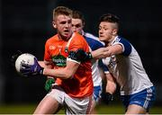 30 March 2016; Jack Rafferty, Armagh, in action against Dessie Ward, Monaghan. EirGrid Ulster GAA Football U21 Championship, Semi-Final, Monaghan v Armagh, Páirc Esler, Newry, Co. Down. Picture credit: David Fitzgerald / SPORTSFILE