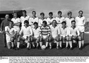 23 September 1973; The Cork team. Back row, from left, Donie O'Donovan, team coach, Denis Long, Ray Cummins, Jimmy Barry Murphy, John Coleman, Dave McCarthy, Declan Barron, Ned Kirby and Denis Coughlan. Front, from left, Jim Barrett, Con Hartnett, Kevin Jer O'Sullivan, Billy Morgan, captain, Frank Cogan, Brian Murphy, Humphrey Kelleher. All-Ireland Senior Football Championship Final, Cork v Galway, Croke Park, Dublin. Picture credit: Connolly Collection / SPORTSFILE