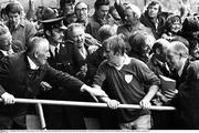 2 September 1973; Limerick captain Eamonn Grimes walks up the steps in the Hogan Stand to accept the Liam MacCarthy cup. Kilkenny v Limerick, All Ireland Hurling Final, Croke Park, Dublin. Picture credit: Connolly Collection / SPORTSFILE