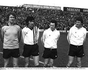 1 May 1977; The Dundalk players line up ahead of the game. FAI Cup Final, Dundalk FC v Limerick FC, Dalymount Park, Dublin. Picture ciredit; Connolly Collection / SPORTSFILE