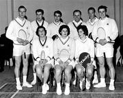 1965; The Ireland team. Badminton International, Dublin. Picture credit; Connolly Collection / SPORTSFILE