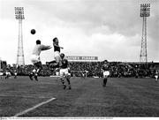 5 June 1966; A general view of the action between the Republic of Ireland and France. Under 23 International, Ireland v France, Dalymount Park, Dublin. Picture credit: Connolly Collection / SPORTSFILE