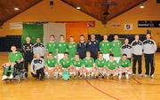 30 March 2010; The Republic of Ireland squad. International Futsal Friendly, Republic of Ireland v Norway, National Basketball Arena, Tallaght, Dublin. Picture credit: Paul Mohan / SPORTSFILE