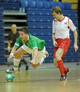 30 March 2010; Mark Langtry, Republic of Ireland, in action against Stian Johnsen, Norway. International Futsal Friendly, Republic of Ireland v Norway, National Basketball Arena, Tallaght, Dublin. Picture credit: Paul Mohan / SPORTSFILE
