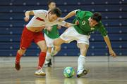 30 March 2010; Tony Kane, Republic of Ireland, in action against Henrik Arnesen, Norway. International Futsal Friendly, Republic of Ireland v Norway, National Basketball Arena, Tallaght, Dublin. Picture credit: Paul Mohan / SPORTSFILE