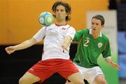 30 March 2010; Christoffer Dahl, Norway, in action against Ross Zambra, Republic of Ireland. International Futsal Friendly, Republic of Ireland v Norway, National Basketball Arena, Tallaght, Dublin. Picture credit: Paul Mohan / SPORTSFILE